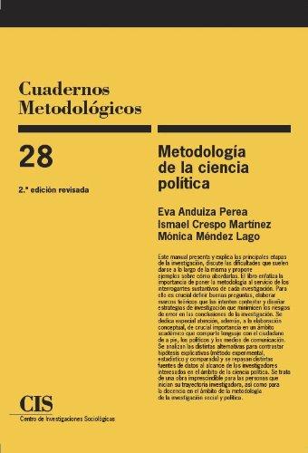 9788474762884: Metodología de la ciencia política (Cuadernos Metodológicos)