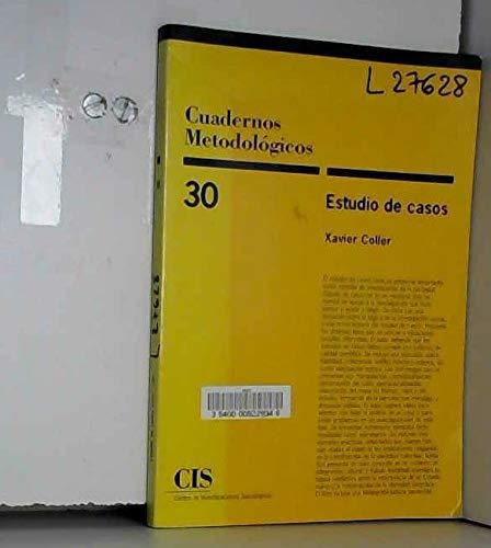 9788474762952: Estudio de casos (Cuadernos metodológicos) (Spanish Edition)