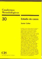 9788474763874: Cuadernos Metodologicos 30.(2ªed)Estudio De Casos