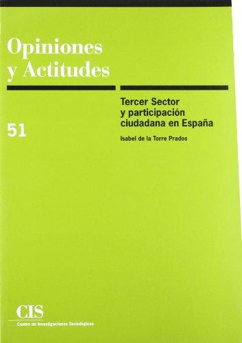 9788474763973: Tercer Sector y participación ciudadana en España (Opiniones y Actitudes)