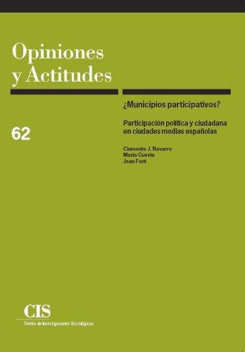 Municipios participativos? : participación política y ciudadana: María Cuesta Azofra,