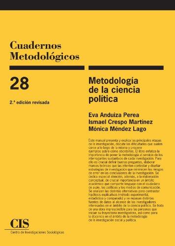 9788474764802: Metodología de la ciencia política, 2a ed
