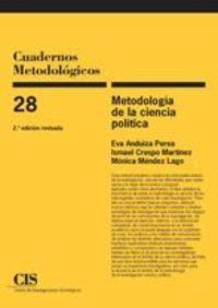 9788474765106: Metodología de la Ciencia Política (E-book) (Cuadernos Metodológicos)