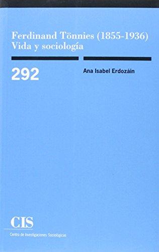 Cis,292 ferdinand tonnies: Erdozain, Ana