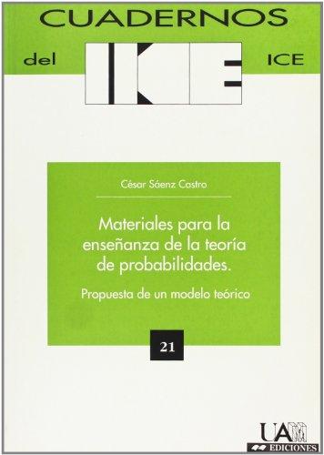 Materiales para la enseñanza de la teoría de probabilidades - Sáenz de Castro, César