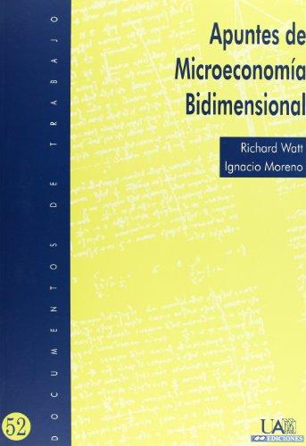 9788474778755: Apuntes de microeconomía bidimensional