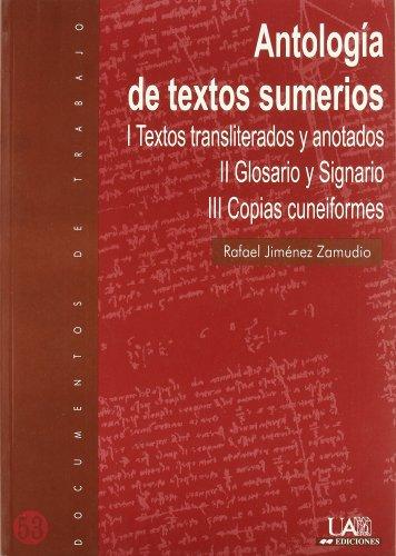 9788474778762: Antología de textos sumerios (Documentos de trabajo)