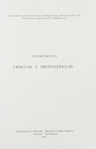 9788474814064: Lenguas y protolenguas (Acta salmanticensia) (Spanish Edition)