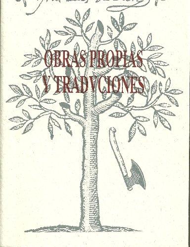 9788474816952: Obras propias y traducciones latinas, griegas e italianas.; t.2