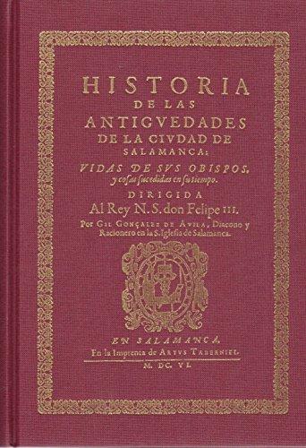 Historia de las antigüedades de la ciudad: VVAA