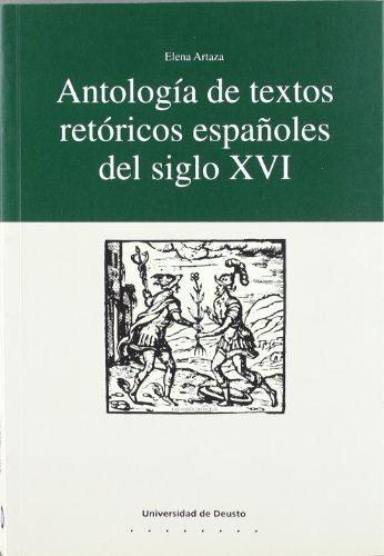 9788474854817: Antología de textos retóricos españoles del siglo XVI (Letras)