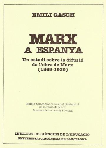 9788474880663: Marx a Espanya