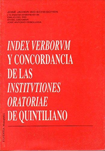 INDEX VERBORUM Y CONCORDANCIA DE LAS INSTITUTIONES: ISO ECHEGOYEN, J.