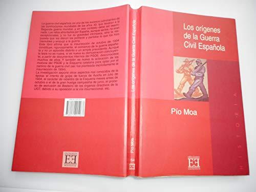 9788474905267: Los Origenes De La Guerra Civil Espanola/ The Origins Of the Spain Civil War (Historia) (Spanish Edition)