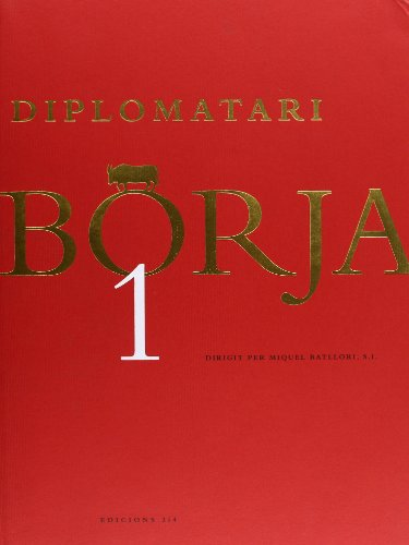 9788475026572: Diplomatari Borja 1