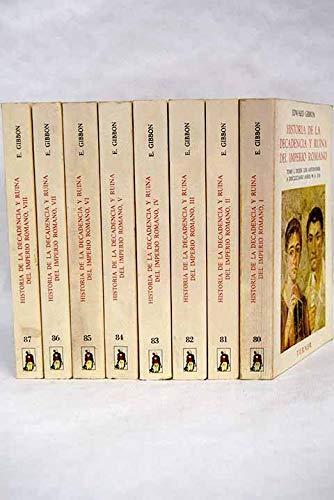 9788475060934: Historia de la decadencia y ruina del imperio romano, 8 vols.