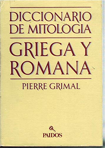 9788475090535: Dicc. de mitologia griega y romana (tela) (Lexicon (paidos))