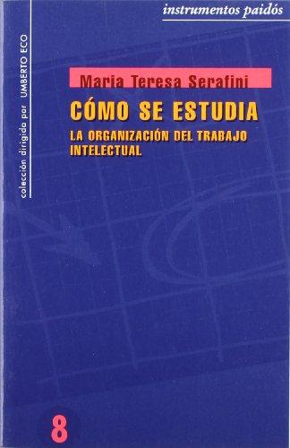 9788475096889: Cómo se estudia: La organización del trabajo intelectual