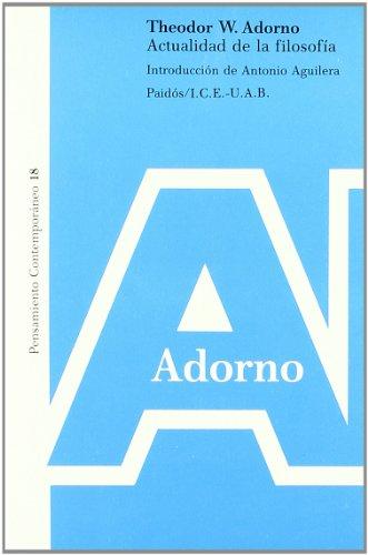 9788475096933: Actualidad de la filosofia / Philosophy Today (Spanish Edition)
