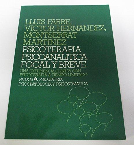 9788475097756: Psicoterapia Psicoanalitica Focal y Breve (Spanish Edition)