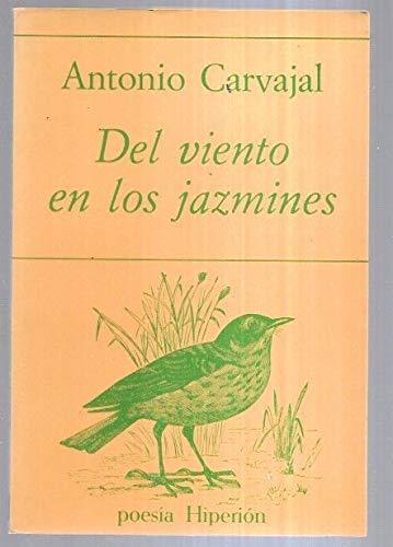9788475171234: Del viento en los jazmines (Poesía Hiperión)