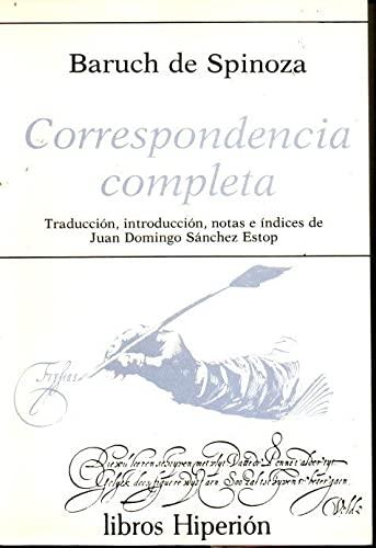 9788475172361: Correspondencia completa (Libros Hiperión)