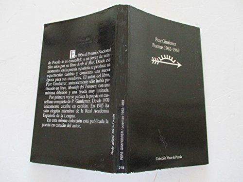 9788475222189: Poemas 1962-1969 (Visor de Poesía)