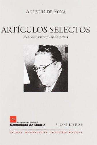 9788475228105: Artículos selectos (Letras madrileñas Contemporáneas)