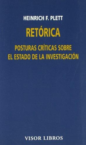 9788475229775: Retórica: Posturas críticas sobre el estado dela investigación (Visor Literario)