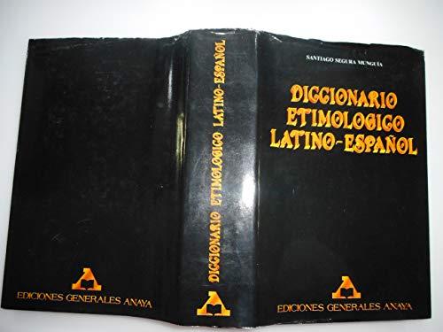 9788475253060: Diccionario Etimologico Latino-Espa~nol (Spanish Edition)