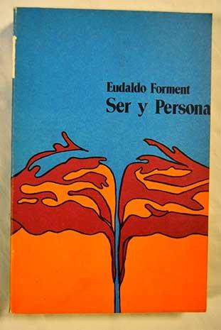 9788475280288: Ser y persona (Spanish Edition)