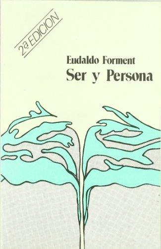 9788475281049: Ser y persona (Spanish Edition)