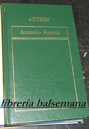 9788475300795: ANTONIO AZORIN