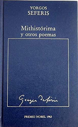 9788475301495: Mithistórima y otros poemas