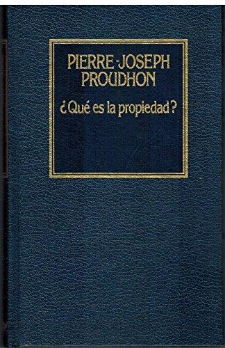 9788475304182: ¿Qué es la Propiedad? (Historia del Pensamiento)