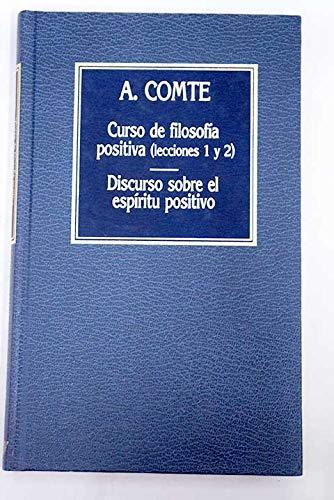 9788475305165: Curso de filosofía. Discurso sobre el espíritu positivo