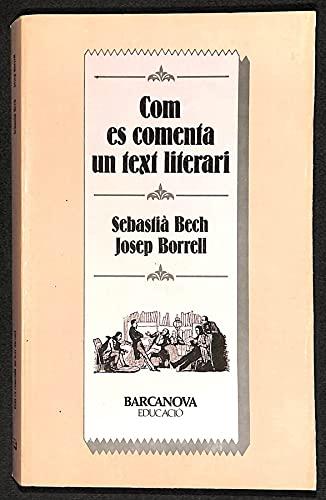 9788475334011: Com es comenta un text literari (Educacio) (Catalan Edition)