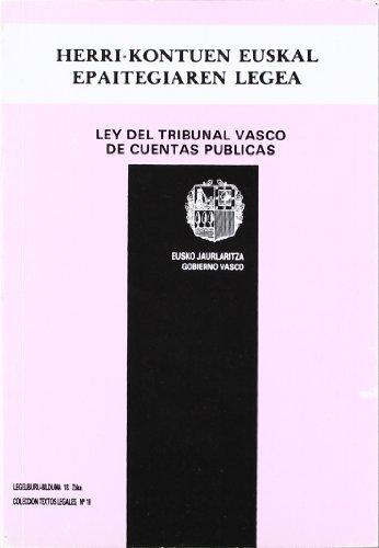 Ley Del Tribunal Vasco De Cuentas Publicas: AA.Vv.