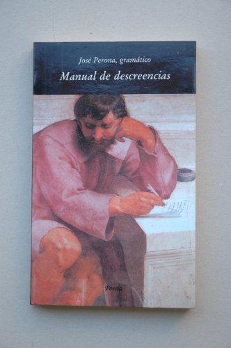 9788475641164: Manual de descreencias (Poesía) (Spanish Edition)
