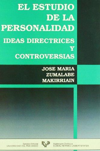 9788475854243: El estudio de la personalidad. Ideas directrices y controversias