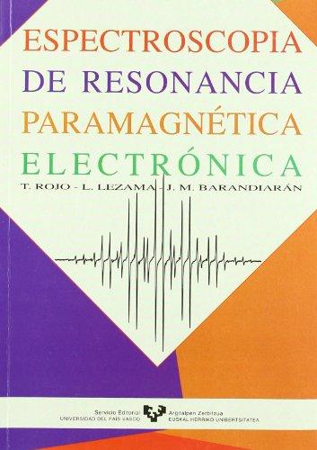 9788475859095: Espectroscopía de resonancia paramagnética electrónica