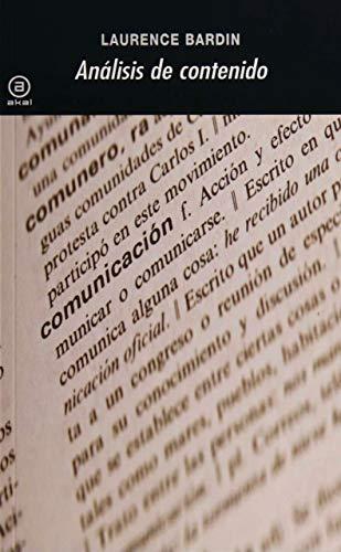 9788476000939: Análisis de contenido (Spanish Edition)