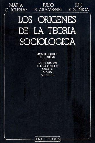9788476004265: Los Origenes de La Teoria Sociologica