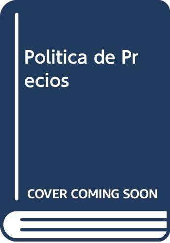 9788476157688: Politica de Precios (Spanish Edition)