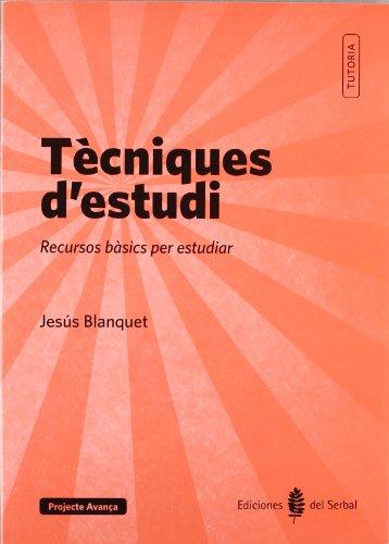9788476286937: Tècniques d'estudi: recursos bàsics per estudiar