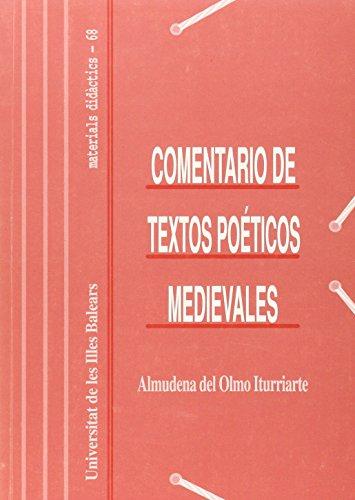 9788476325940: Comentarios de textos poéticos medievales (Materials didàctics)