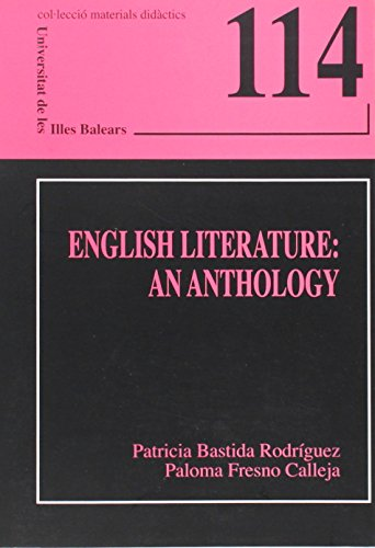 9788476329375: English Literature: an Anthology (Materials didà ctics)