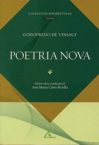9788476356890: Poetria Nova (Serie Perspectivas)