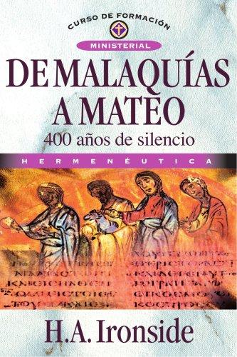 9788476454213: De Malaquías a Mateo (Spanish Edition)