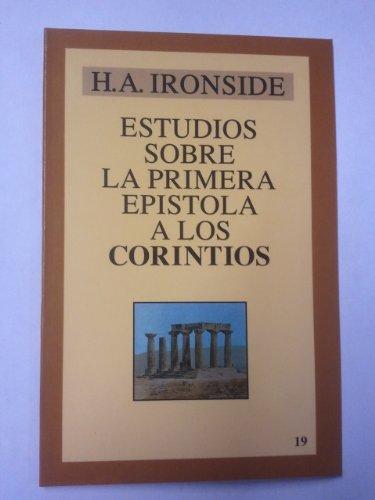 9788476457184: Estudios Sobre La Primera Epistola a Los Corintios